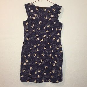 Emily and Fin XL swallow bird print dress